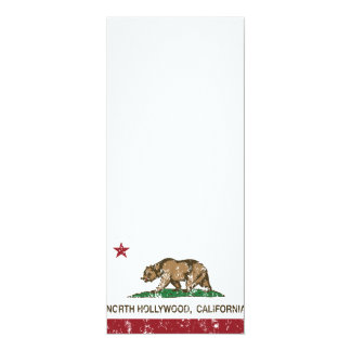 california flag north hollywood distressed 10 cm x 24 cm invitation card