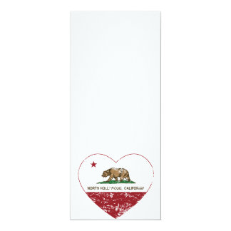 california flag north hollywood heart distressed announcement