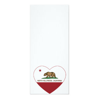 california flag north hollywood heart personalized invite