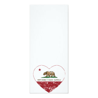 california flag north manhattan beach heart dis 10 cm x 24 cm invitation card