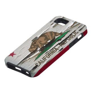 California Flag Paint Peel iPhone 5 Cases