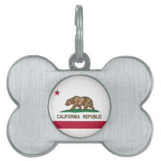 California Flag Pet ID Tag