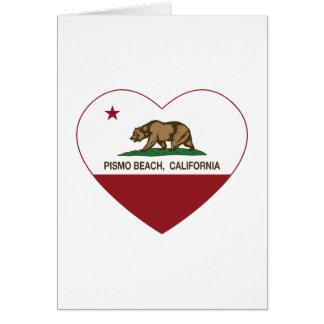 california flag pismo beach heart card