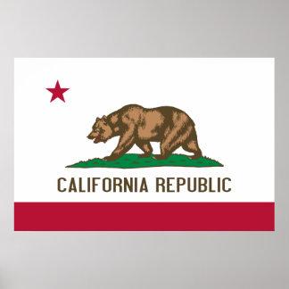 California Flag Poster