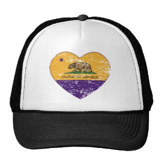 california flag republic purple heart distressed mesh hats