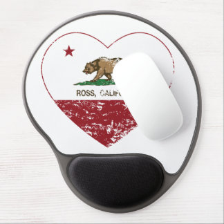california flag ross heart distressed gel mouse pad