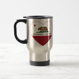 california flag san francisco heart coffee mugs