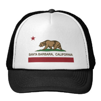 california flag santa barbara mesh hat