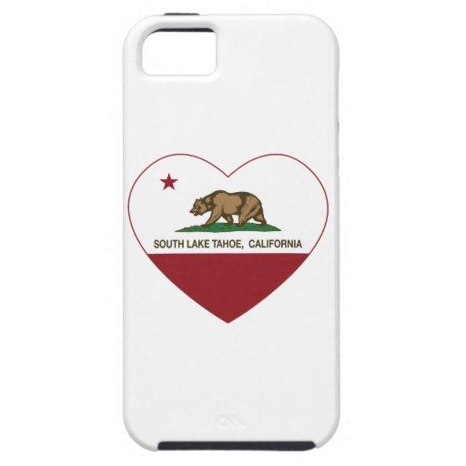 california flag south lake tahoe heart iPhone 5/5S cover