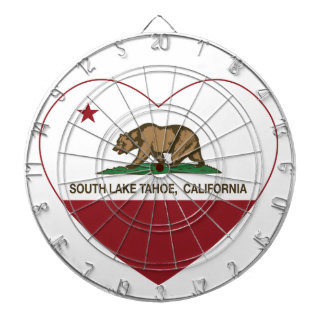 california flag south lake tahoe heart dartboard