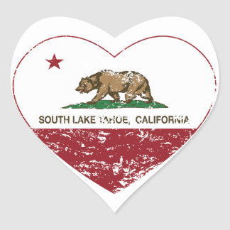 california flag south lake tahoe heart distressed heart sticker