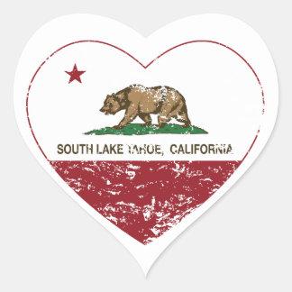 california flag south lake tahoe heart distressed heart sticker