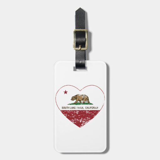 california flag south lake tahoe heart distressed tags for luggage