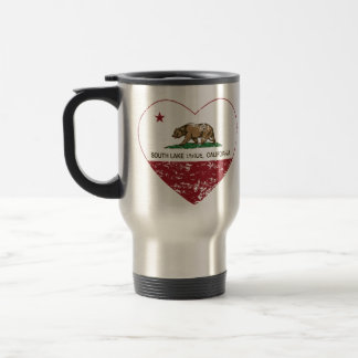 california flag south lake tahoe heart distressed mugs