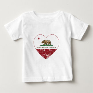 california flag south lake tahoe heart distressed tshirt