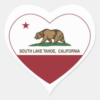 california flag south lake tahoe heart heart sticker