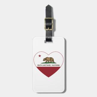 california flag south lake tahoe heart bag tags