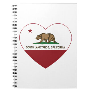 california flag south lake tahoe heart note books