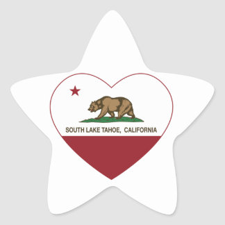 california flag south lake tahoe heart star sticker