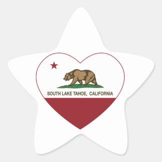 california flag south lake tahoe heart star sticker