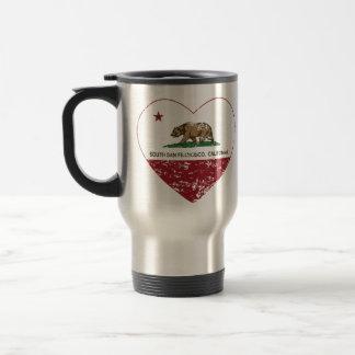 california flag south san francisco heart mug