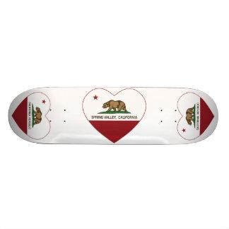california flag spring valley heart skateboard decks