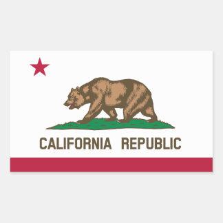 California* Flag Sticker   Drapeau de Californie Rectangular Sticker