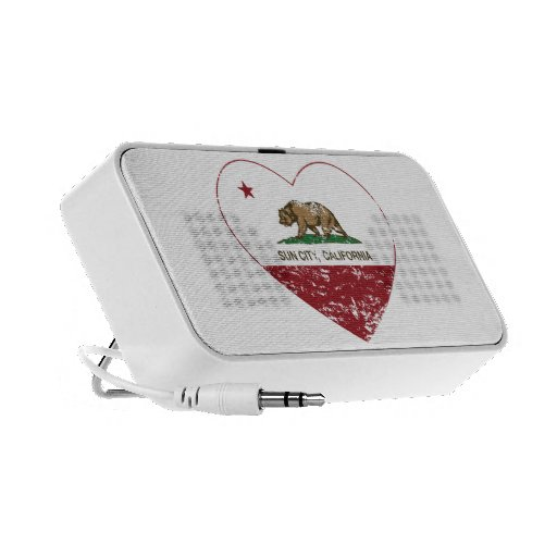 california flag sun city heart distressed laptop speakers