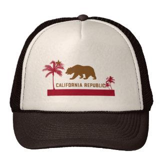 California Flag T-Shirt - Palm Trees & Beach Cap