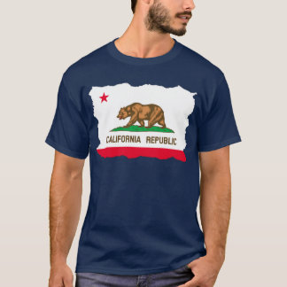 California Flag Tear Out T-Shirt