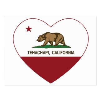 california flag tehachapi heart postcard