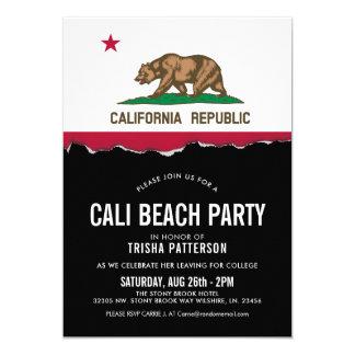 California Flag Theme Party Invite
