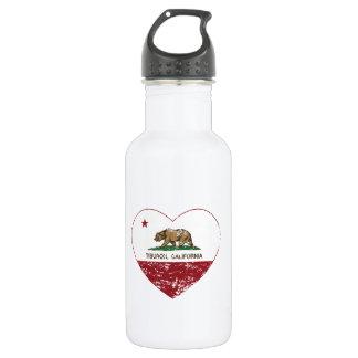 california flag tiburon heart distressed 532 ml water bottle