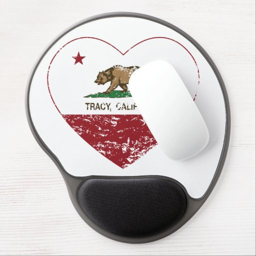 california flag tracy heart distressed gel mouse pads