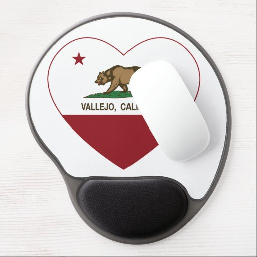 california flag vallejo heart gel mouse pads