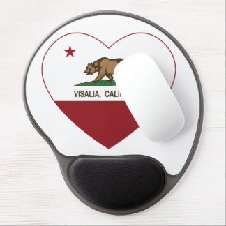 california flag visalia heart gel mousepad