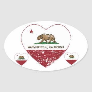 california flag warm springs heart distressed stickers