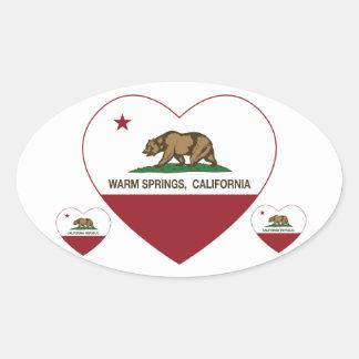 california flag warm springs heart stickers