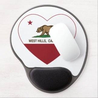 california flag west hills heart gel mouse pad