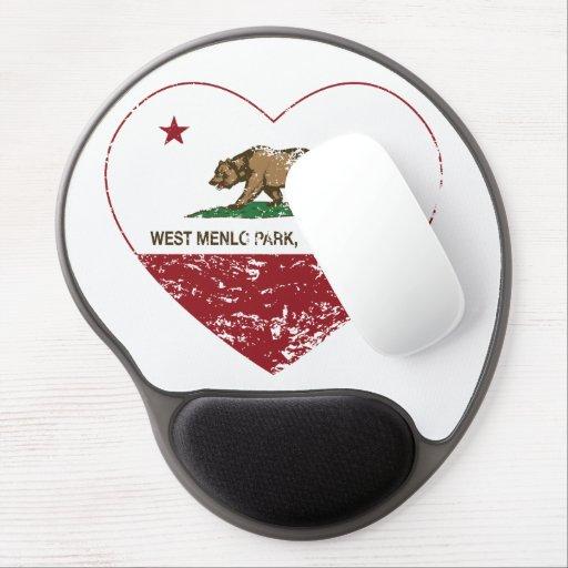 california flag west menlo park heart distressed gel mousepads