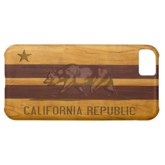 California Flag Wood Surf Style iPhone 5C Case