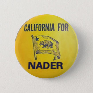 California For Nader Button
