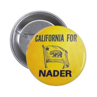 California For Nader Button