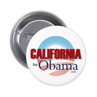 California for Obama 6 Cm Round Badge