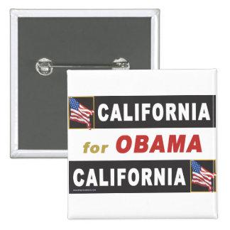 California for Obama Pin