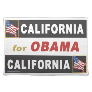 California for Obama Placemat