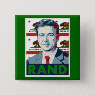 California for Rand Paul 15 Cm Square Badge