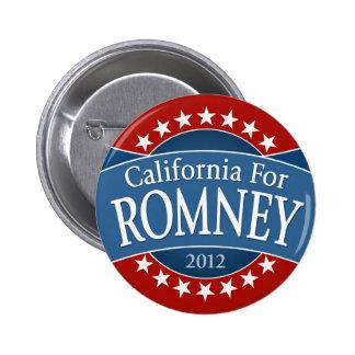 California for Romney 6 Cm Round Badge