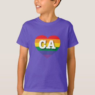 California Gay Pride Rainbow Heart - Big Love T-Shirt