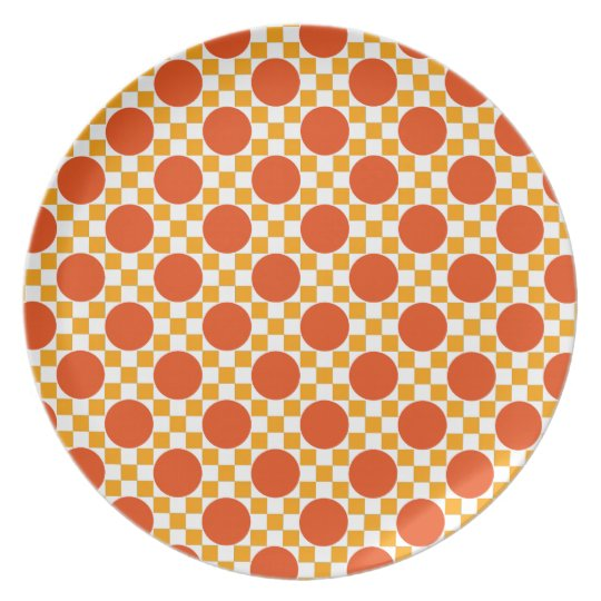 California gold dots and Trinidad orange squares Plate